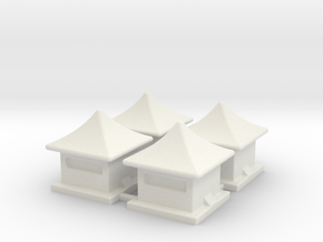 2mm / 3mm Scale China Style House in White Natural Versatile Plastic