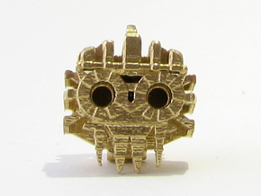 Aztec Bead Tlaloc SA in Raw Brass
