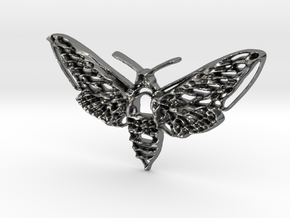 Hawkmoth in Polished Silver