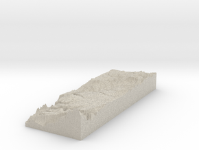 Model of Bull Tank in Natural Sandstone