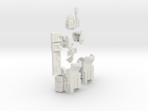 IDW autobot Megatron gear for (Ironfactroy) in White Natural Versatile Plastic