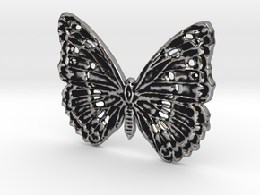 Tropical butterfly in Antique Silver: Medium