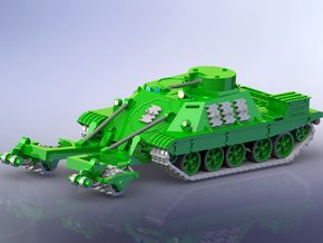 Russian BMR-1 w. KMT-7 1/144 in Smooth Fine Detail Plastic
