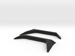 TRX4 Tactical unit front fender set in Black Natural Versatile Plastic