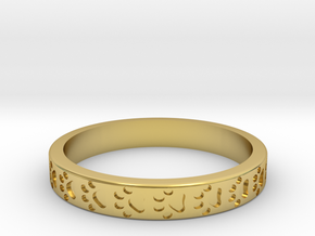 PawPrint Stackable in Polished Brass