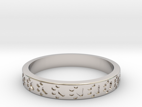 PawPrint Stackable in Rhodium Plated Brass