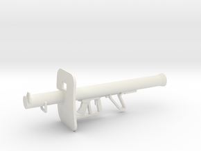 1:12 Panzershreck Anti-tank Rocket Launcher in White Natural Versatile Plastic: 1:12