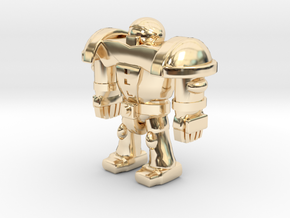 CYBORG1 in 14k Gold Plated Brass