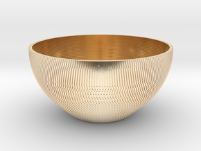 Bowl Pixels in 14k Gold Plated Brass