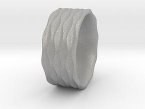 Sinewave Ring in Aluminum
