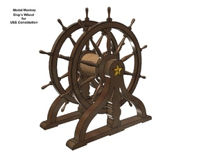 1/76 Ship's Wheel (Helm) for USS Constitution in Smoothest Fine Detail Plastic