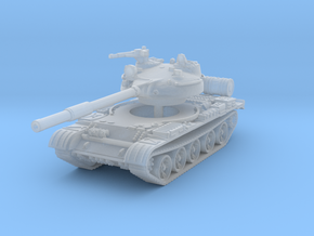 T62 Tank 1/100 in Smooth Fine Detail Plastic