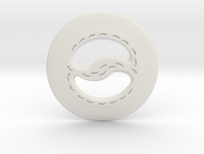 Miniature Chakram in White Natural Versatile Plastic