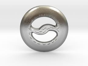 Miniature Chakram in Natural Silver