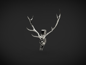Antler's Stag in Fine Detail Polished Silver