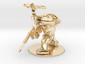CYBORG1 FORCE-AXE AND PISTOL in 14K Yellow Gold