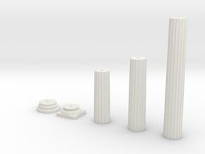 Doric Column in White Natural Versatile Plastic