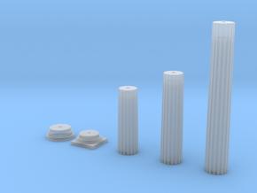 Doric Column in Smooth Fine Detail Plastic