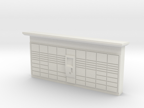 HO Scale DHL Packstation in White Natural Versatile Plastic
