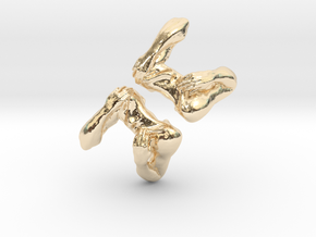 Shoulders and Arms Cufflinks in 14K Yellow Gold