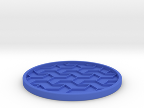 Drink Coaster (4) in Blue Processed Versatile Plastic