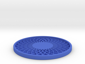 Drink Coaster (3) in Blue Processed Versatile Plastic