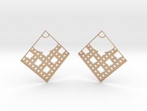 Menger Earrings in Natural Bronze