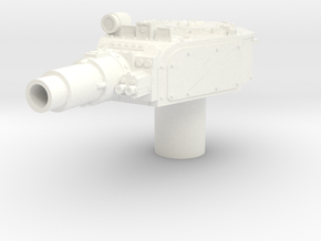 28mm Invader turret custom ring in White Processed Versatile Plastic