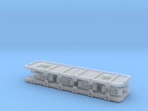 Grappe 2 wagons plats Egypte V2 in Smooth Fine Detail Plastic