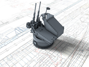 1/35 Twin 20mm Oerlikon MKV Mount Not in Use in Smooth Fine Detail Plastic