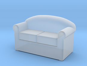 HO Scale 2 seat sofa in Smoothest Fine Detail Plastic