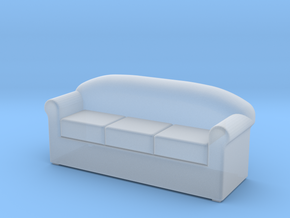 HO Scale 3 seat sofa in Smoothest Fine Detail Plastic