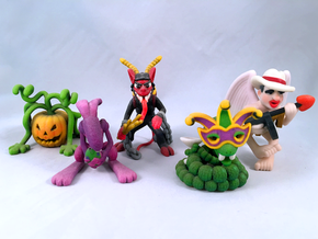 2 Inch Monsters: Holiday Monsters 01 in Natural Full Color Sandstone