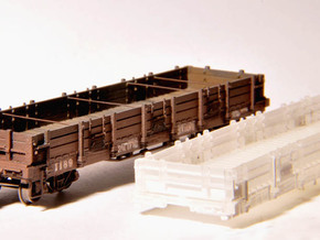 Pacific Coast Railway Gondola 1169 - TTn3 / TTn42 in Smooth Fine Detail Plastic