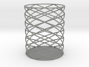 Spiral Hex Pencil Holder in Gray PA12