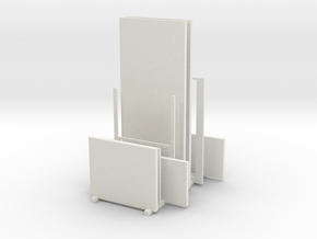 Printle Thing Kit Wall with window in White Natural Versatile Plastic