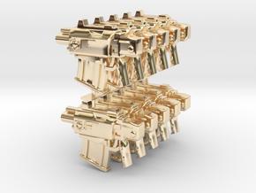 BoltPistolSET in 14k Gold Plated Brass