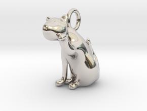 cat_020 in Rhodium Plated Brass