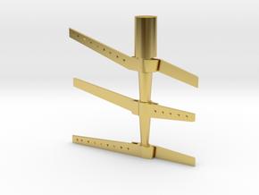 HO Scale rudder 5 in Polished Brass