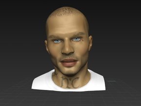 Jeremy Meeks a.k.a. Handsome Felon in Full Color Sandstone