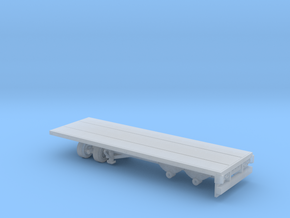 1-87 Scale Transit 22ft Flatbed Trailer in Smooth Fine Detail Plastic
