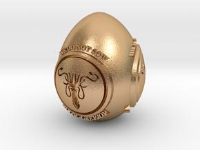 GOT House Greyjoy Easter Egg in Natural Bronze