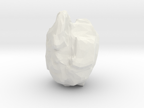 Asteroid in White Natural Versatile Plastic