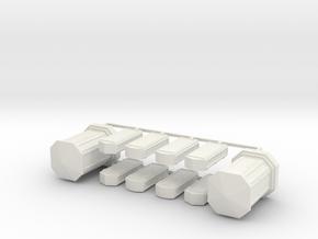 Linien- und Endverzweiger 10erSet - 1:87 H0 in White Natural Versatile Plastic