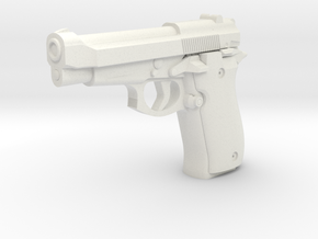 1:3 Miniature Beretta 84F Cheetah in White Natural Versatile Plastic