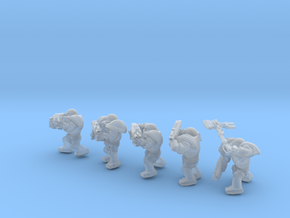 SPACEMARINER SQUAD in Smooth Fine Detail Plastic