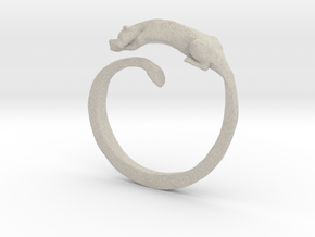 Sleeping Lioness Ring in Natural Sandstone