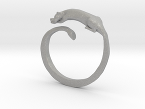 Sleeping Lioness Ring in Aluminum