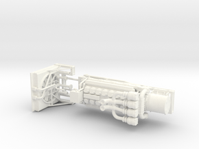 1/50th V-16 type marine or machinery Engine in White Processed Versatile Plastic