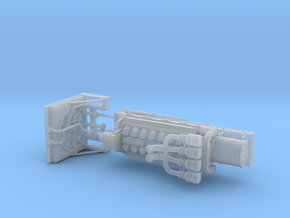 1/50th V-16 type marine or machinery Engine in Smooth Fine Detail Plastic